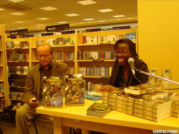 Paul Westlake & Valerie Tagwira at the launch of Uncertainty Borders Bookshop in Islington June 07